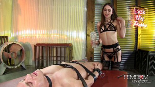 Femdom and Strapon Swell in your Cage