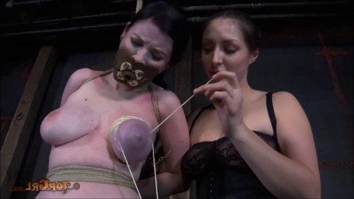 BDSM Hard bondage, hogtie, spanking and torture for naked girl part 1