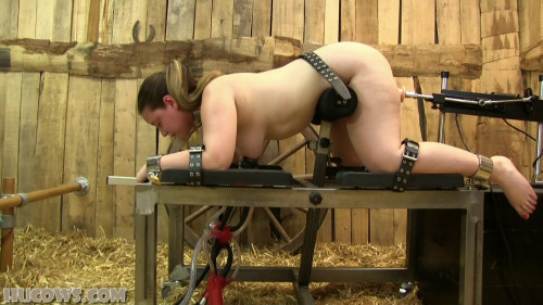 BDSM Vina-Red Cow Milker and Fucking Machine