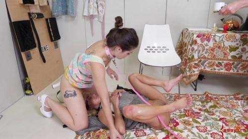 BDSM Anastasia Rose and Maria Jade 1950s Part 2 The Painal