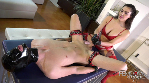 Femdom and Strapon Milked Man Pussy