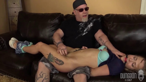 BDSM Tight bondage, spanking and torture for very beautiful girl