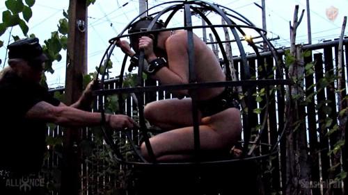 BDSM Caged Outdoor Salacity