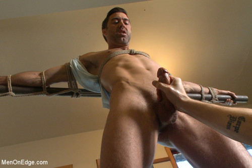 Gay BDSM Prolonged Edging = Giant Loads of Cum