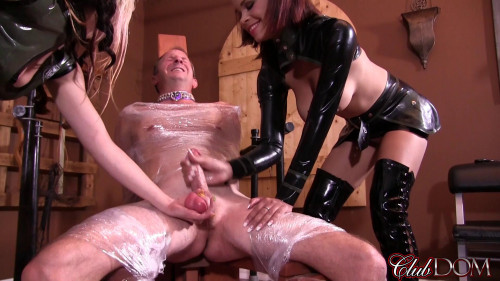 Femdom and Strapon Mistress Isobel and Mistress Raven-Surprise Sucker Punch
