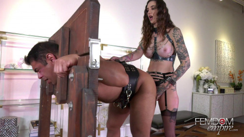 Femdom and Strapon Pegging Party Favor