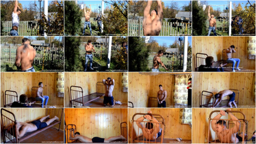 Gay BDSM Model Photoshoot at the Dacha 1