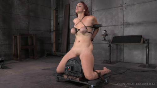 BDSM Busty Bella Rossi takes on 2 cocks!