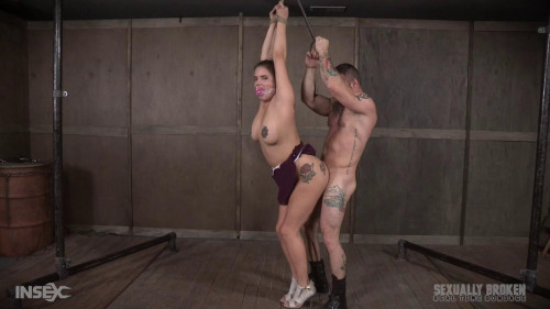 BDSM Greedy Big Tits Slut Scarlet punished & rough fucked