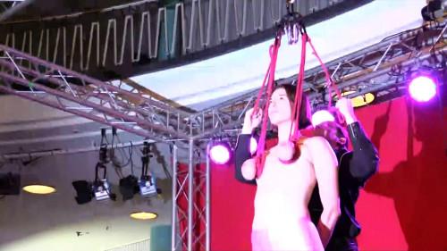 BDSM Breast Suspension live from Venus
