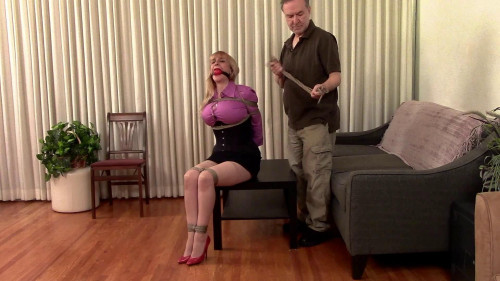 BDSM The Lost Bet Part One Secretary Lorelei is Ballgagged and Bound