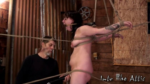 BDSM Hard bondage, strappado and torture for naked whore part 2