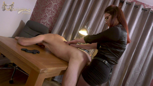 Femdom and Strapon Boilerman Punished