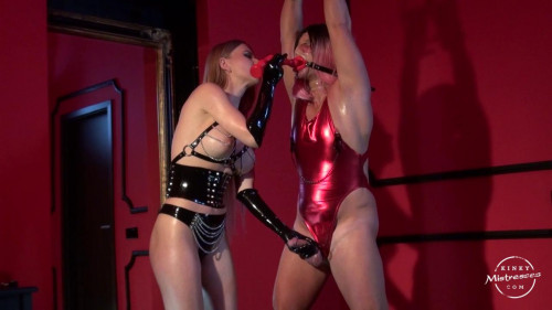 Femdom and Strapon Estelles Sissy Take The Dildo Deep