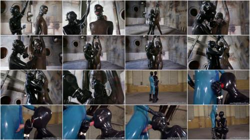 BDSM Latex Super bondage, strappado and torture for beautiful girl