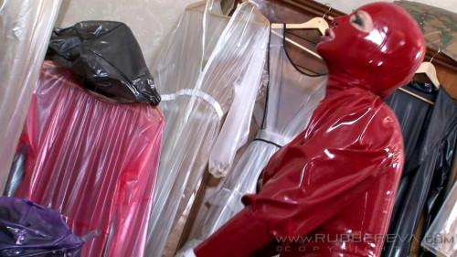 BDSM Latex Plastic bag fuckers