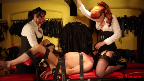 Femdom and Strapon Red and Mistress Miranda - The Victim