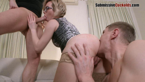 Femdom and Strapon Wife With Glasses Fuck In Ass