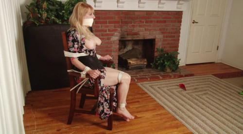 BDSM Bdsm Most Popular Dress Cut Open then Stuffed WrapGag for Damsel Lorelei