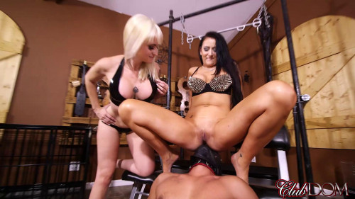 Femdom and Strapon Ass Licking Loser