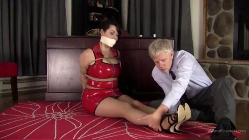 BDSM Latex Stephanie Pearle: Secretary Restrained