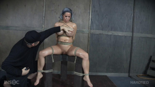 BDSM Crazy Bondage For Huge Tits Alyssa Lynn