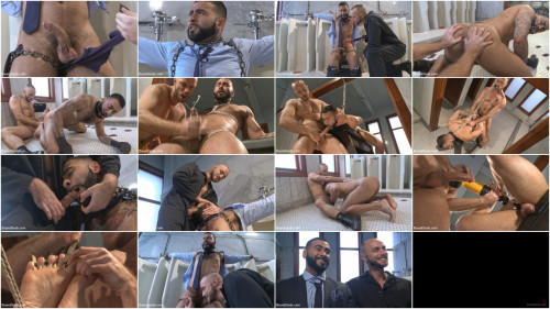 Gay BDSM Rude Businessmans Airport Bathroom Nightmare