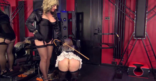 Femdom and Strapon Chastised And Caged Maid Part 1