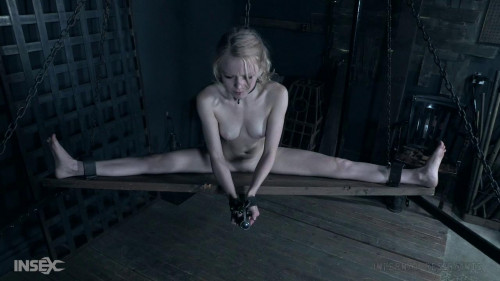 BDSM With metal while she blackens