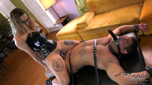 Femdom and Strapon Your Cock is Mine!