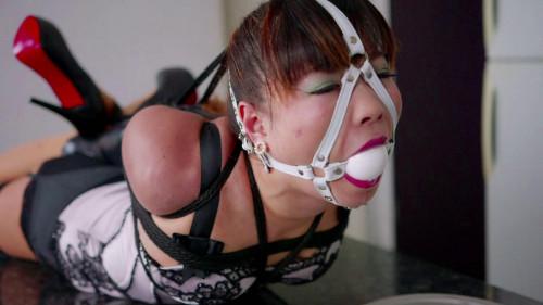 Asians BDSM White gagged