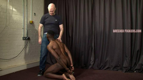 Gay BDSM Joseph - Made to crawl on his knees while naked