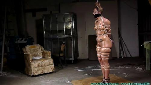 BDSM Bondage, strappado, hogtie and spanking for naked bitch part 2 Full HD 1080p