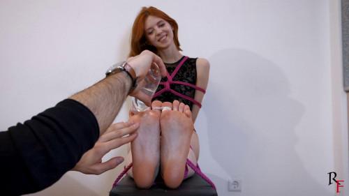 BDSM Gentle feet tickling