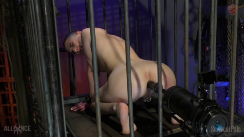BDSM Caged Anal Sex Machine