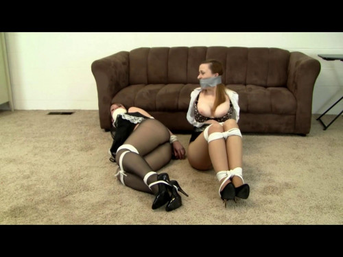 bdsm Bound Maid and Mistress Tortured for the Password