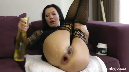 Fisting and Dildo Anal wine bottle hightower fuck