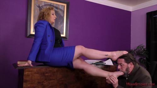 Femdom and Strapon Sara Jay Mean Bitch Boss