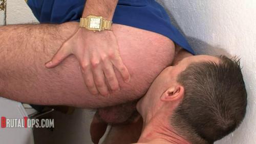 Gay BDSM Bathroom Pig Training
