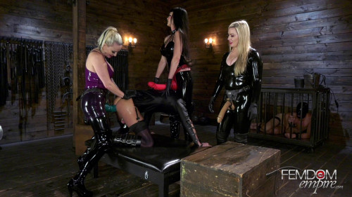Femdom and Strapon Strap-on Girl Gang