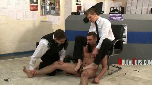 Gay BDSM Ejaculating Cop Humiliators