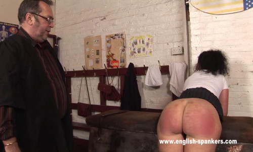BDSM English-spankers - (spr-322) - After spanking the unlucky Emma