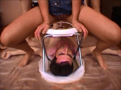 Femdom and Strapon Toilet Domination