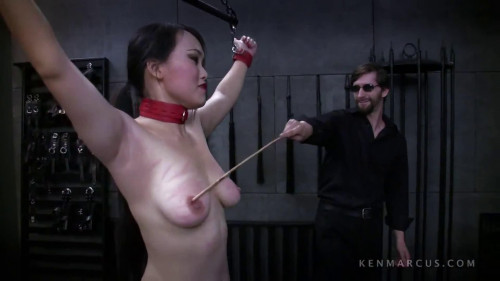 BDSM Bondage, spanking, strappado and torture for horny naked slut Full HD1080