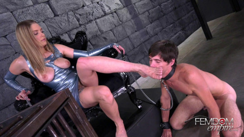 Femdom and Strapon Beg For My Feet