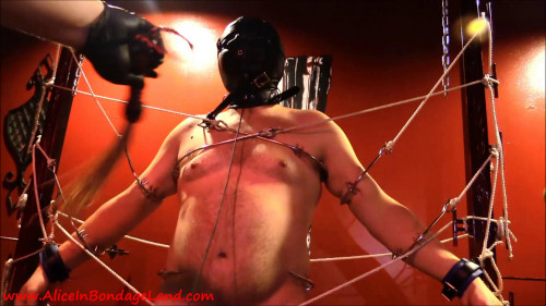 Femdom and Strapon The Metal Bondage Gate - Cameraguy Takedown FemDom Foursome