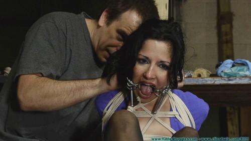BDSM DA Hannah Perez Captured, Bound, and tormented By 2 Parolees - Part 2
