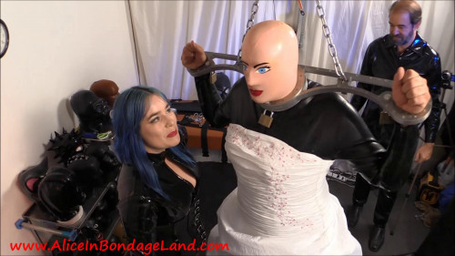 Femdom and Strapon Wedding Dress Fetish - Rubber Crossdressing Transformation