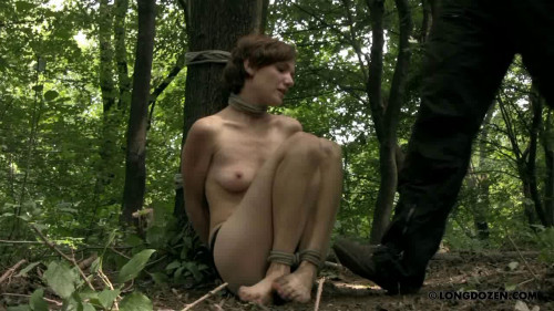 BDSM Bondage in woods
