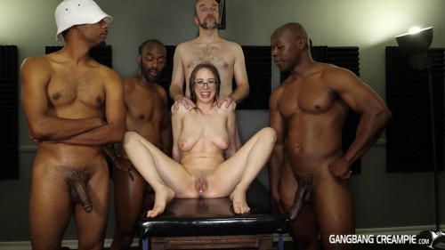 First gangbang ever with creampie for Jackie Hoff